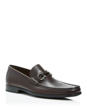 Salvatore Ferragamo Calfskin Leather Loafers with Double Gancini Bit