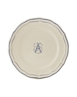 Gien France - Monogram Filets Bleu Dessert Plate