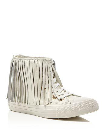 bc306de3c6e3 Converse Chuck Taylor All Star Egret Fringe High Top Sneakers ...