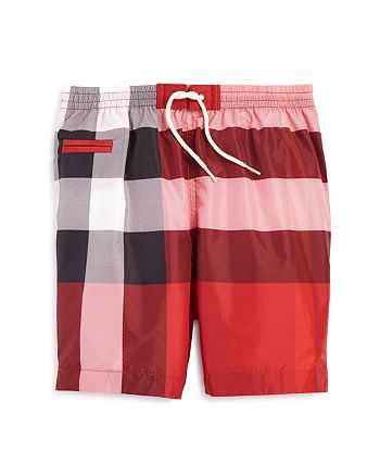 Burberry - Boys' Check Print Swim Trunks - Baby