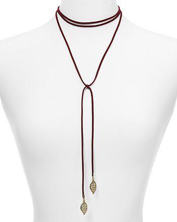 "AQUA - Dallas Leaf Choker Necklace, 12"" - 100% Exclusive"