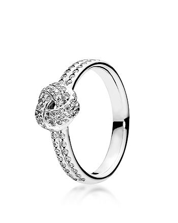 PANDORA - Ring - Sterling Silver & Cubic Zirconia Sparkling Love Knot