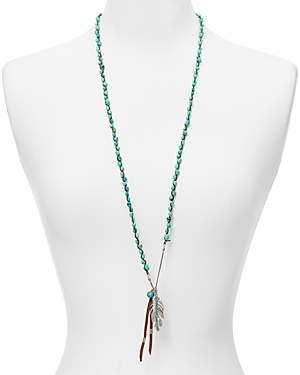 Chan Luu Turquoise Pendant Necklace, 33