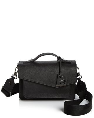 Cobble Hill Leather Crossbody Bag - Black