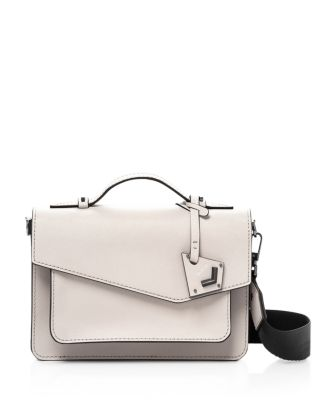 Mini Cobble Hill Calfskin Leather Crossbody Bag - White, Dove