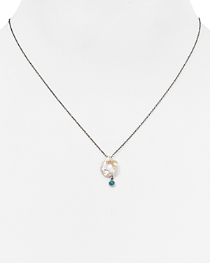 Chan Luu Turquoise Cultured Freshwater Pearl Pendant Necklace, 16