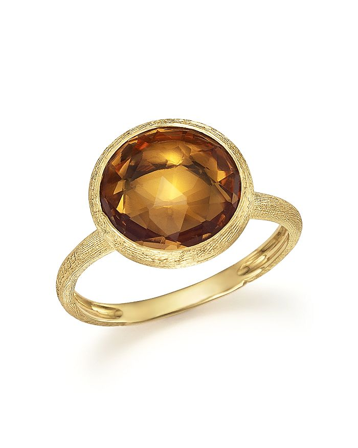 Marco Bicego 18K Yellow Gold Jaipur Ring With Citrine In Orange/Gold