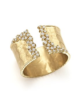Bloomingdale's - Diamond Cuff Ring in 14K Yellow Gold, .30 ct. t.w.- 100% Exclusive