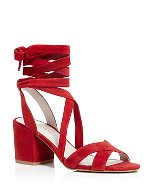 Kenneth Cole Victoria Strappy Lace Up Mid Heel Sandals