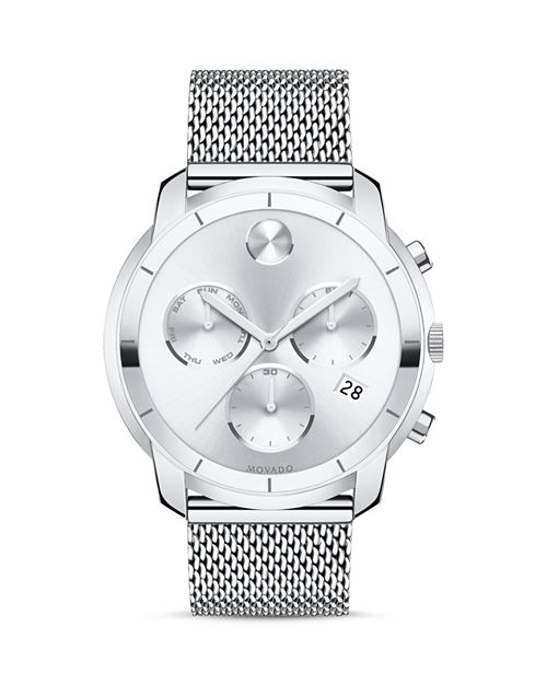 Movado BOLD - Stainless Steel Mesh Bracelet Chronograph, 44mm
