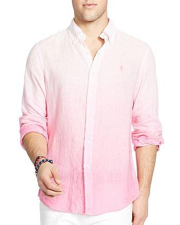 Polo Fit Linen Ralph Lauren Regular Ombré Button Down Shirt zSUMqVpG