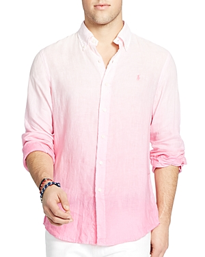 Polo Ralph Lauren Ombre Linen Regular Fit Button-Down Shirt