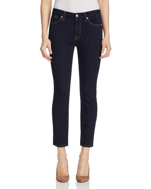 7 For All Mankind - Kimmie Crop Jeans in Dark Rinse