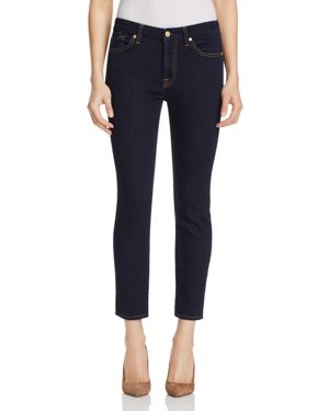 7 For All Mankind Kimmie Crop Jeans in Dark Rinse 1696512