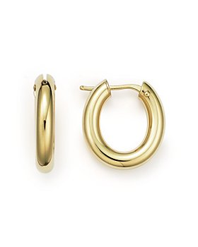 Roberto Coin - 18K Yellow Gold Oval Hoop Earrings