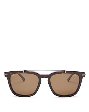 Salvatore Ferragamo Square Metal Bar Sunglasses, 54mm