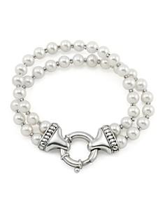 LAGOS - Sterling Silver Luna 2 Strand Pearl Bracelet