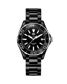 TAG Heuer Stainless Steel and Ceramic Aquaracer Watch, 35mm - Bloomingdale's_0