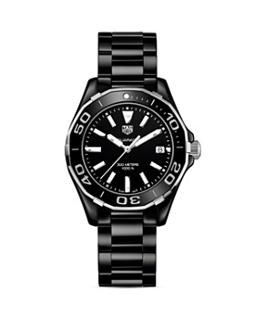 TAG Heuer - Stainless Steel and Ceramic Aquaracer Watch, 35mm