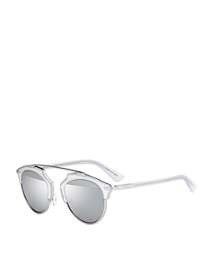 Dior Women\\\'s So Real Split Lens Mirrored Sunglasses, 48mm-Jewelry & Accessories
