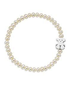 TOUS - Cultured Freshwater Pearl Bear Charm Bracelet