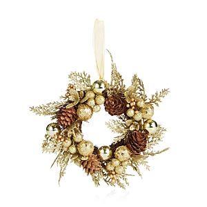 Bloomingdale's Gold Berry and Pinecone Wreath Ornament - 100% Exclusive