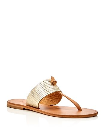 e13d64898ca Joie - Women s Nice Metallic Embossed Thong Sandals