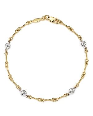 Roberto Coin 18K Yellow Gold and Diamond Station Bracelet