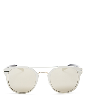 Dior Mirrored Mixed Media Sunglasses, 51mm