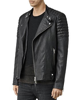 ALLSAINTS - Jasper Leather Slim Fit Biker Jacket