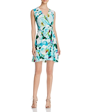 Calvin Klein Floral Faux Wrap Dress