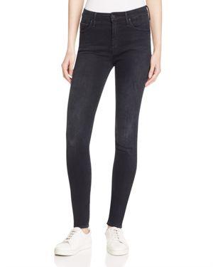 Mother The High Waist Looker Jeans in Black Bird
