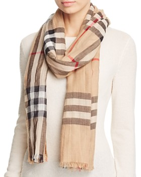 eb8e1c46f48 Burberry - Giant Check Wool   Silk Gauze Scarf ...