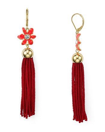 kate spade new york - Lovely Lillies Tassel Earrings