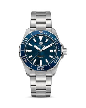 TAG HEUER Way101C.Ba0746 Aquaracer Stainless Steel Watch in Silver / Blue