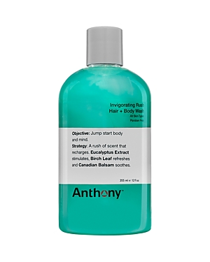 Anthony Invigorating Rush Hair & Body Wash 12 oz.