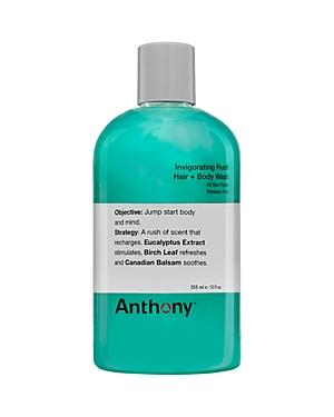 Anthony Invigorating Rush Hair & Body Wash 12 oz.