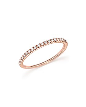 Bloomingdale's - Diamond Micro Pavé Band in 14K Rose Gold, 0.15 ct. t.w.- 100% Exclusive
