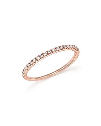 Bloomingdale's - Diamond Micro Pavé Band in 14K Rose Gold, .15 ct. t.w. - 100% Exclusive