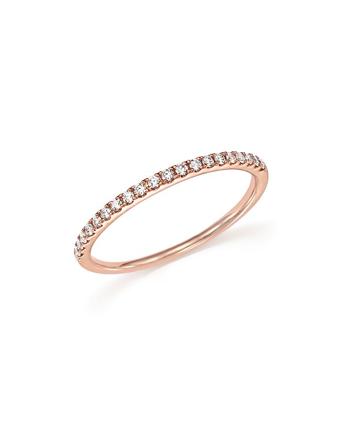 Bloomingdale's DIAMOND MICRO PAVE BAND IN 14K ROSE GOLD, .15 CT. T.W.