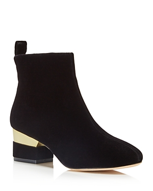 Isa Tapia Hardy Velvet Ankle Booties