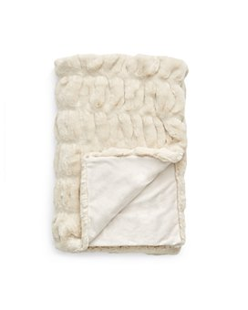 Hudson Park Collection - Sculpted Faux Fur Throw - 100% Exclusive