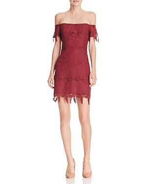 Astr Valentina Off-The-Shoulder Lace Dress