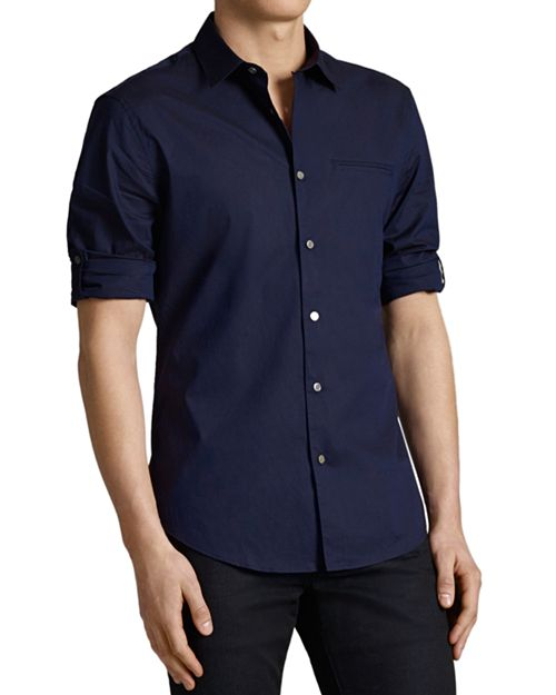 John Varvatos Collection - Rolled Sleeve Slim Fit Button-Down Shirt