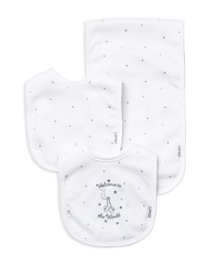 Little Me - Infant Unisex Welcome to the World Bib & Burp Cloth Set