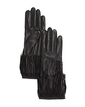 Agnelle Leather Gloves with Fringe at Bloomingdale's
