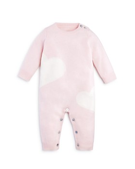 Bloomie's - Girls' Cashmere Hearts Intarsia Coverall, Baby - 100% Exclusive