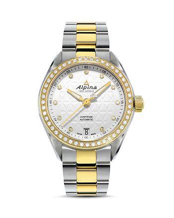 Alpina - Comtesse Two-Tone Sport Watch with Diamonds, 34mm