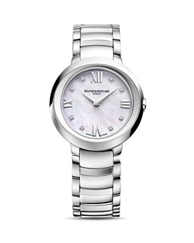 Baume & Mercier - Promesse Watch with Mother-Of-Pearl and Diamonds, 30mm