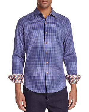 Robert Graham Murano Houndstooth Classic Fit Button-Down Shirt